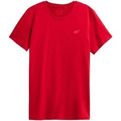 Textil Muži Trička s krátkým rukávem 4F TSM352 Červené
