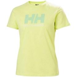 Textil Ženy Trička s krátkým rukávem Helly Hansen W Logo Tshirt Zelené