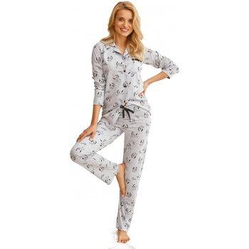 Textil Ženy Pyžamo / Noční košile Taro Dámské pyžamo 2584 Celine grey