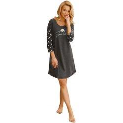 Textil Ženy Pyžamo / Noční košile Taro Noční košile 2573 Nicole dark grey