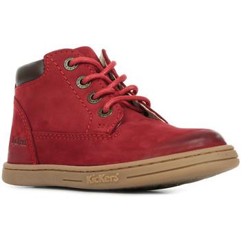 Boty Děti Kotníkové boty Kickers Tackland Červená