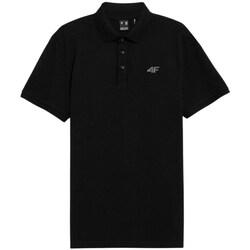 Textil Muži Polo s krátkými rukávy 4F TSM356 Černé
