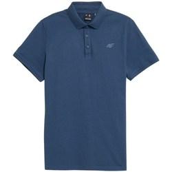 Textil Muži Polo s krátkými rukávy 4F TSM355 Modré