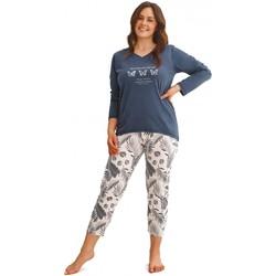 Textil Ženy Pyžamo / Noční košile Taro Dámské pyžamo 2611 Omena plus