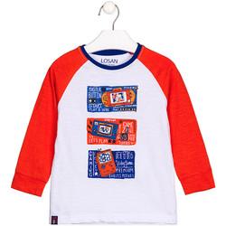 Textil Děti Trička s dlouhými rukávy Losan 125-1015AL Bílý