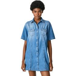 Textil Ženy Krátké šaty Pepe jeans PL952962 Modrý