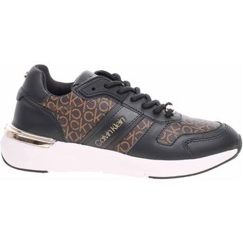 Boty Ženy Nízké tenisky Calvin Klein Jeans Dámská obuv  HW0HW00534 0GT black-brown mono Černá