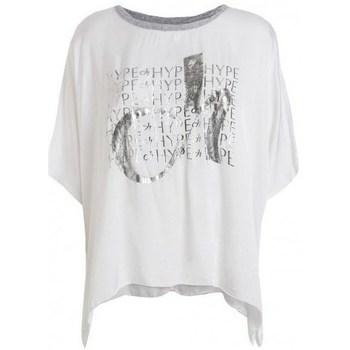 Textil Ženy Trička s krátkým rukávem Deha D43333 Bílé
