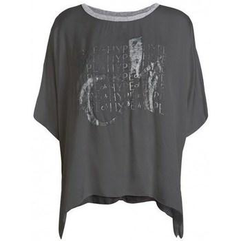 Textil Ženy Trička s krátkým rukávem Deha D43333 Grafitové