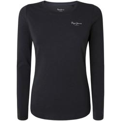 Textil Ženy Trička s krátkým rukávem Pepe jeans PL504798 Černá