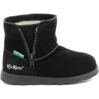 Boty Dívčí Kozačky Kickers Chaussures enfant  Aldiza noir