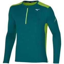 Textil Muži Trička s dlouhými rukávy Mizuno Dryaeroflow HZ Zelené