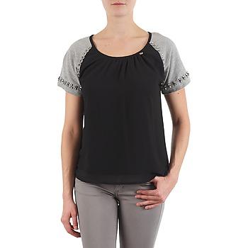 Textil Ženy Trička s krátkým rukávem Lollipops PADELINE TOP Černá / Šedá