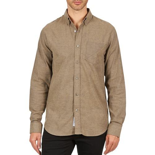 Textil Muži Košile s dlouhymi rukávy Kulte CHEMISE CLAY 101799 BEIGE Béžová