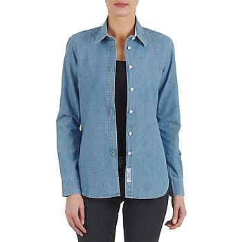 Textil Ženy Košile / Halenky Kulte CHEMISE CIRCUIT 101826 BLEACH Modrá
