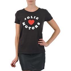Textil Ženy Trička s krátkým rukávem Kulte LOUISA JOLIEMOTOR 101954 NOIR Černá