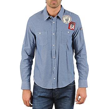 Textil Muži Košile s dlouhymi rukávy Mr Marcel NEBRASKA Modrá