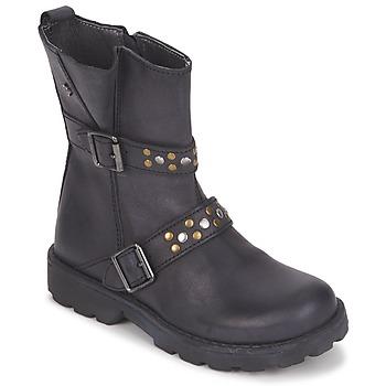 Boty Dívčí Kotníkové boty Naturino  Černá