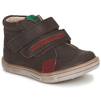 Kickers Kotníkové boty Dětské TAXI - Hnědá