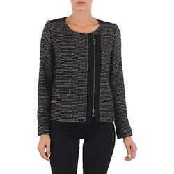 Textil Ženy Saka / Blejzry Lola VIE LUREX Černá / Béžová
