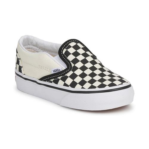 Boty Děti Street boty Vans CLASSIC SLIP ON KIDS Černá / Bílá