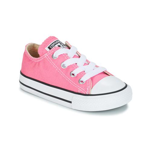 Boty Dívčí Nízké tenisky Converse CHUCK TAYLOR ALL STAR CORE OX Růžová