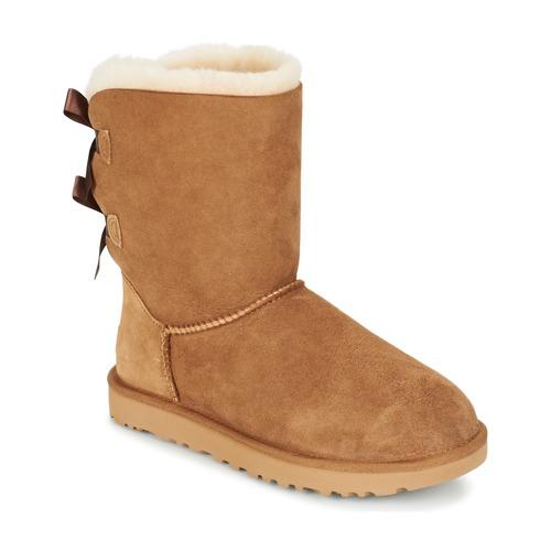 Boty Ženy Kotníkové boty UGG BAILEY BOW II Kaštanová