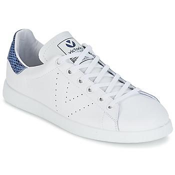 Boty Nízké tenisky Victoria DEPORTIVO BASKET PIEL Bílá / Modrá