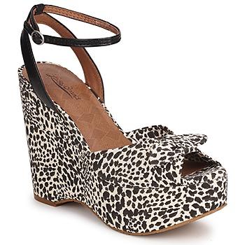 Boty Ženy Sandály Lucky Brand VIERA Černá / Bílá