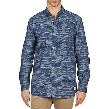Textil Muži Košile s dlouhymi rukávy Suit ROD Modrá