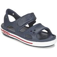 Boty Chlapecké Sandály Crocs CROCBAND II SANDAL PS Tmavě modrá / Bílá