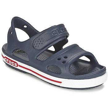 Boty Děti Pantofle Crocs CROCBAND II SANDAL PS Tmavě modrá / Bílá