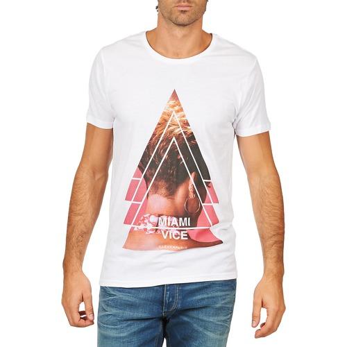 Textil Muži Trička s krátkým rukávem Eleven Paris MIAMI M MEN Bílá