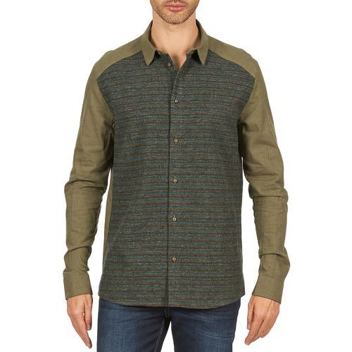 Textil Muži Košile s dlouhymi rukávy Eleven Paris VRAPP MEN Khaki