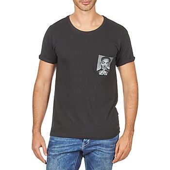 Textil Muži Trička s krátkým rukávem Eleven Paris WOLYPOCK MEN Černá