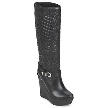 Boty Ženy Kozačky Versace DSL909R Černá