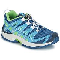 Boty Děti Multifunkční sportovní obuv Salomon XA PRO 3D JUNIOR Modrá / Zelená