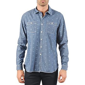 Textil Muži Košile s dlouhymi rukávy Barbour LAWSON Modrá