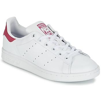 Boty Dívčí Nízké tenisky adidas Originals STAN SMITH J Bílá / Růžová