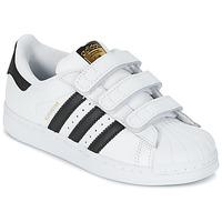 Boty Chlapecké Nízké tenisky adidas Originals SUPERSTAR FOUNDATIO Bílá / Černá