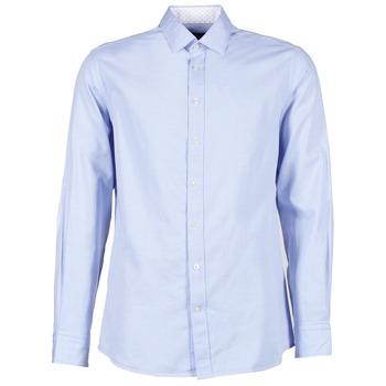 Textil Muži Košile s dlouhymi rukávy Hackett SQUARE TEXT MUTLI Modrá