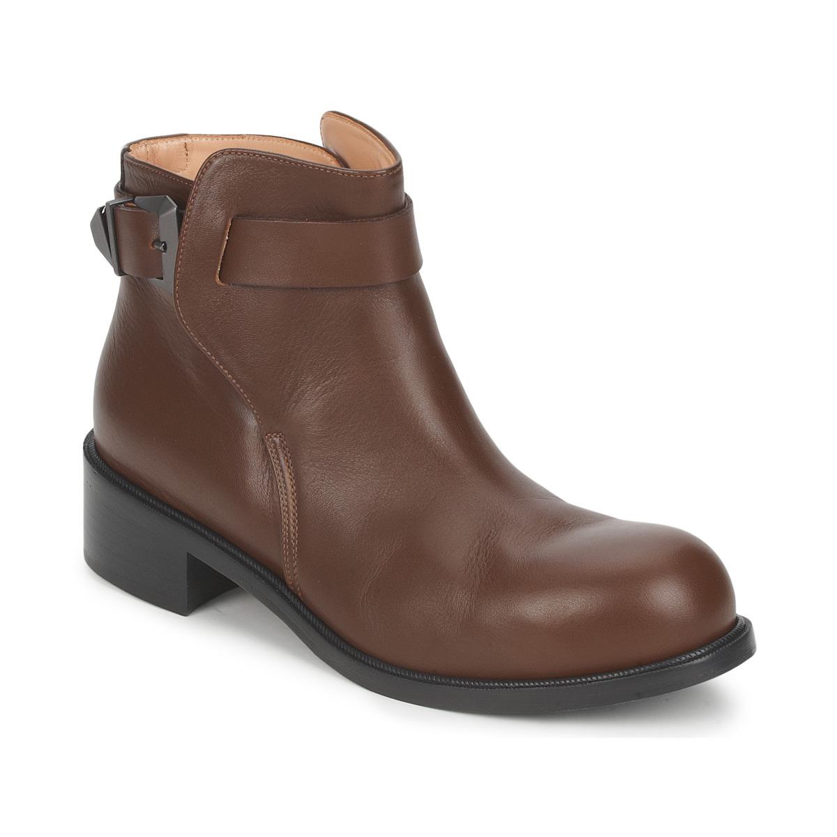 Kotnikove boty Kallisté 5723 Hnědá