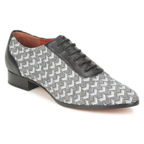 Boty Ženy Šněrovací společenská obuv Missoni WM076 Černá / Šedá