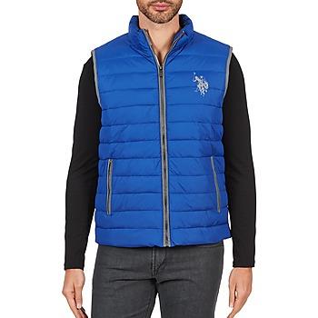 Textil Muži Prošívané bundy U.S Polo Assn. USPA 1890 Modrá