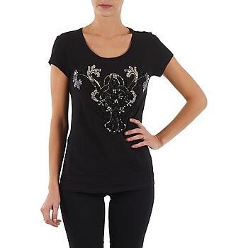 Textil Ženy Trička s krátkým rukávem S.Oliver T-SHIRT MANCHES COUR Černá