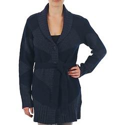 Textil Ženy Svetry / Svetry se zapínáním Gant N.Y. DIAMOND SHAWL COLLAR CARDIGAN Tmavě modrá