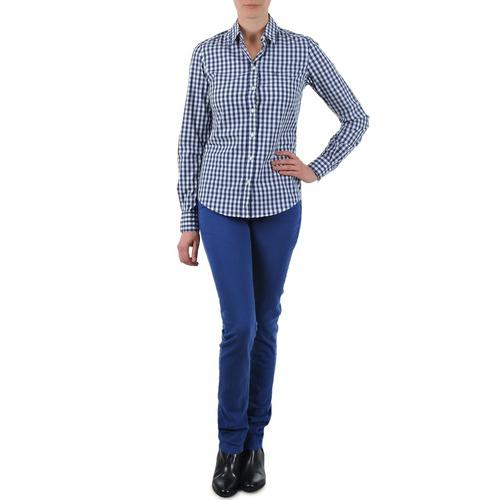 Textil Ženy Rifle rovné Gant N.Y. KATE COLORFUL TWILL PANT Modrá