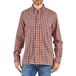 Textil Muži Košile s dlouhymi rukávy Hackett SOFT BRIGHT CHECK Oranžová / Modrá