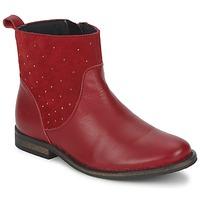 Boty Dívčí Kotníkové boty Citrouille et Compagnie BELFINE Červená