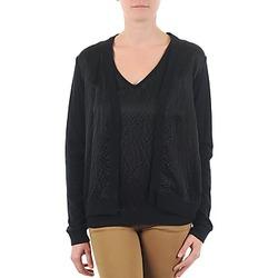 Textil Ženy Svetry / Svetry se zapínáním Majestic 238 Černá